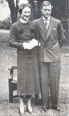 "Edward Prince of Wales ""David"" & Wallis Simpson, later Duke & Dutchess of Windsor, Reunited. May 1937."
