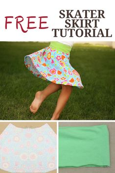 Today I have a FREE skater skirt pattern to share with you! The FREE skater skirt pattern is a super quick and easy to sew and doesn't take much fabric so you can whip up a Girls Skirt Patterns, Skirt Patterns Sewing, Sewing Patterns For Kids, Doll Clothes Patterns, Sewing For Kids, Free Sewing, Sewing Clothes, Clothing Patterns, Sewing Pants