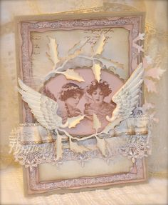 Card whit lovely angels <3 Papers from Pion