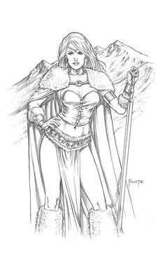 Winter Sorceress by MitchFoust.deviantart.com on @DeviantArt