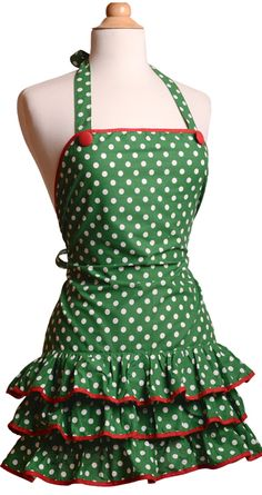 Womens Apron KayDee Deck the Halls2 $32.95, SO CUTE! Want, and a Need.