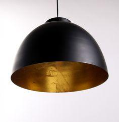 Moderne Pendelleuchte, Hängelampe Farbe Schwarz-Gold, Durchmesser 30 cm - Hängeleuchten - Innenleuchten - Leuchten