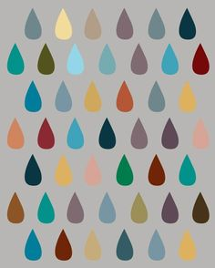 drops on gray. love the colors.