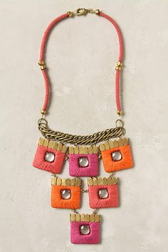 Seriously? Pink, orange, and petal? I MUST have this necklace to wear with a white tee and jeans all summer long!