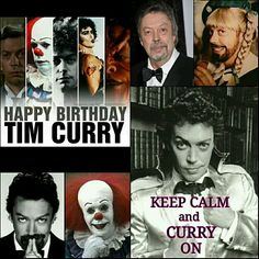 Happy Birthday to this lovely man / Tim Curry / Keep Calm and CURRY on Tim Curry Rocky Horror, The Rocky Horror Picture Show, Creepy Pictures, Danse Macabre, British Actors, Marvel Movies, Great Movies, Funny Memes, Happy Birthday