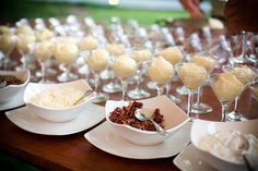 mashed potato bar! Neat and inexpensive