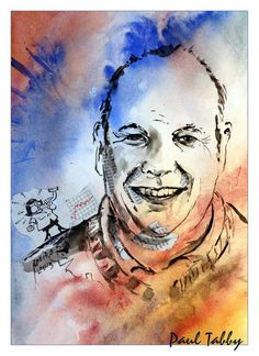 Paul Tabby / Aquarell Collage Collage, Portrait, Watercolor Tattoo, Tattoos, Art, Watercolor, Figurine, Art Background, Collages