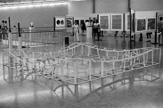 "Eugenio Espinoza ""Untitled"", 1971, Metal structure covered with unprimed canvas, 4m x 4m x 50cm."