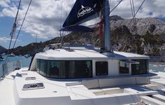 Catamaran for sailing charters in the Aeolian Islands, Sicily, with Il Miglio Blue. http://www.yachtsailingcharter.com