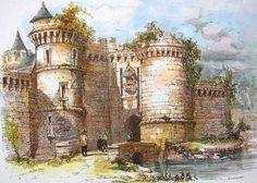 Porte Notre-Dame du château de Fougères (Ille-et-Vilaine)