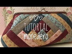 Patchwork Log Cabin, Tutorial Patchwork, Cabin Bag, Frame Purse, Bag Making, Diy And Crafts, Applique, Projects To Try, Coin Purse