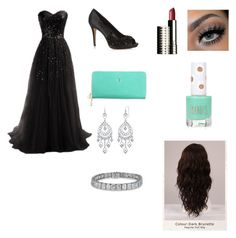 Prom by xxitsjennyxx on Polyvore featuring polyvore, fashion, style, Giudi, 1928, Clinique, WigYouUp, Topshop and clothing