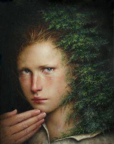 Dino Valls, Umbra, Oil on Wood, 25 x 20 cm. 2012