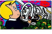 Driver Alec monopoly Graffiti mr brainwashart paint canvas for wall art decoration oil painting wall painting picture No framed(China (Mainland))