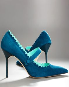 Manolo Blahniks- love the teal color
