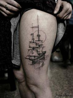 6fca7f7a2 100 Boat Tattoo Designs | ink. | Sailing tattoo, Picture tattoos ...