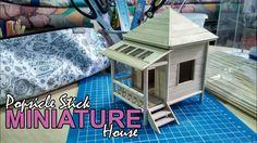 Popsicle Stick Miniature House (Framelapse) / DIY Miniature House