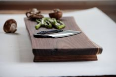 Walnut Baguette Board Rustic Cutting Board by grayworksdesign, $80.00