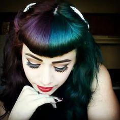 Cette fille qui a choisi deux magnifiques teintes au lieu d'une. | 28 femmes qui ont osé la teinture bicolore