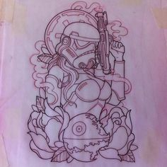 Female Stormtrooper Tattoo
