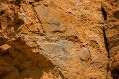 Pinturas rupestres Roca Benedí Jaraba retocada