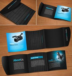 The professionalism of this brochure design plays up images, contrast and texture, making it memorable even without a large amount of information.