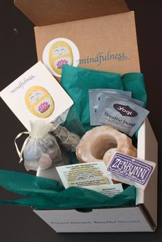 Monthly subscription box with 5-items related to mindfulness, balance and joy!