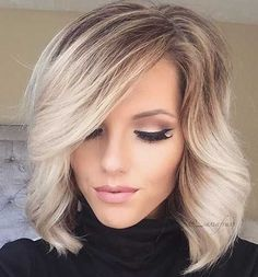 Think a Balayage can only look stylish on longer locks? In fact, there are dozens of Balayage haircolors for short hair ,It can also be a subtle way to . Love Hair, Gorgeous Hair, Amazing Hair, Hair Colours 2014, Popular Hair Colors, Prom Hairstyles For Short Hair, Messy Hairstyle, Trendy Hairstyles, Medium Hairstyles