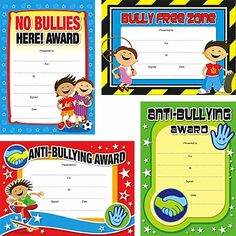 Anti Bullying Slogans | ANTI-BULLYING CERTIFICATES