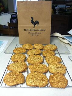 If you had joined our Organic Spice Club you would be eating these Organic Macadamia Oatmeal with Organic Coconut Cookies right now, at The Chicken House, Griffin, Ga.