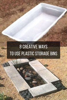 Plastic storage bins can solve so many common problems. Here's how you can upcycle them to solve a bunch of problems at the house!  #DIY #bins #projects