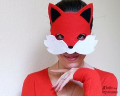 Woodland Fox Mask Tail Costume Sewing Pattern PDF Adult Children DIY Dress Up Pretend Play Easy Tutorial