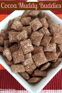 Cocoa Muddy Buddies