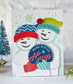 Warm Winter Hugs Card by Betsy Veldman for Papertrey Ink (October 2016)