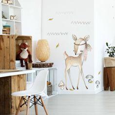 Nálepka jelenčeka v prírodných a zemitých farbách do dokonalej detskej izby Wonderland, Room, Diy, Madness, Dots, Bedroom, Bricolage, Rooms, Do It Yourself