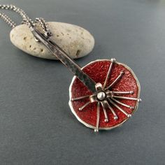 Red Star Spinner Necklace