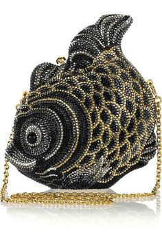 Judith Leiber Fish Fine Crystal Embellished Clutch