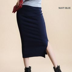 BEFORW Long Skirt Fashion Solid Color Cotton Skirts Womens Winter Autumn Maxi Skirt 5 Color High Waist Elasticity Pencil Skirt