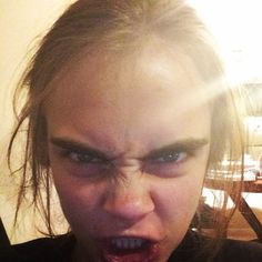 Um how is she still hot. Cute Celebrity Guys, Cute Celebrities, Celebrity Crush, Celebs, Cara Delevingne Funny, Moody People, Stay Young, Girl Humor, Funny Faces