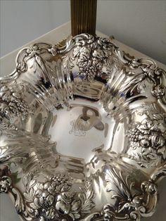 Antique silver compote...