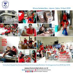 https://youtu.be/FDqUjGHq5nM  Terima kasih Banyak atas partisipasi para relawan, donatur dan peserta kegiatan BCAD Jakarta 14 April 2018,  Sampai Jumpa Bulan Depan!  More info: www.diamondwisdom.co.id  Social Media:  Twitter: @DiamondWisdomID  Instagram: DiamondWisdomIndonesia  FB Group/Path/LinkedIn/Pinterest/YouTube: Diamond Wisdom Indonesia