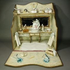 a469b19ce54 Extraordinary De Luxe French Miniature Toilette Salon in Presentation Box:  I have a new obsession