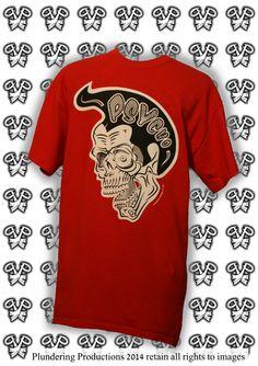 Psycho Skull Men's T-shirt in RED #Psychobilly #Punk