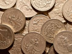 Visit the pound shop before going to the supermarket to save on regular items. #gbp #pound #queen #money #coins