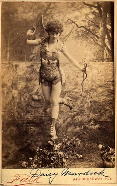 Daisy Murdock in mythological theatrical costume Vintage Photos Women, Antique Photos, Vintage Photographs, Vintage Images, Old Photos, Vintage Burlesque, Vintage Fairies, Flower Fairies, Vintage Beauty