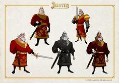 OSOKARO: JUSTIN AND THE KNIGHTS OF VALOUR VIII: HERACLIO CHARACTER DESIGN