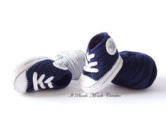 Baby Booties Sneakers Converse Shoes Boots by PiccoloMondoCreativo