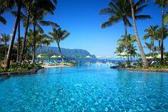 The St. Regis Princeville Resort, Hawaii,overlooking Hanalei Bay. #SPG, #travel, #beach, #memberfav