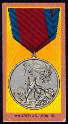 """Wills's Cigarettes """"Medals"""" issued in Mauritius Medal, British Medals, Mauritius, Britain, Africa, History, Soldiers, Colonial, Awards, Military"""
