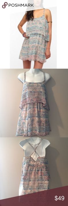"🆕 Anthropolgie Ecoté print dress. Size Small New with tags Anthropolgie Ecoté sheer chiffon print dress. Polyester. Size Small. 35"" long. Anthropologie Dresses"